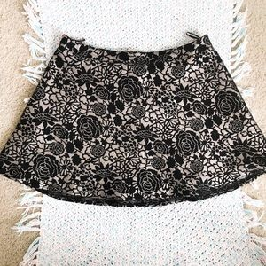 Forever 21 Skirts - PLUS SIZE Black & Gold Rose Skirt